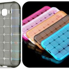 Husa silicon Jelly Case Squares Apple iPhone 5G / 5S NEGRU - Husa Telefon Apple, iPhone 5/5S/SE