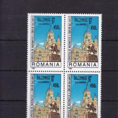 ROMANIA 1997, LP 1434, EXP. FILATELICA BALCANMAX 97 CLUJ, BLOC DE 4 MNH - Timbre Romania, Nestampilat