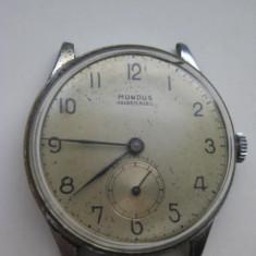 Ceas vechi Mundus Ancre 15 rubis mana barbat nefunctional. - Ceas de mana