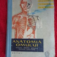 ANATOMIA OMULUI manual ptr.scolile de asistente medicale an 1961/663pag -V.Ranga