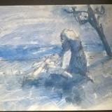 Peisaj langa mare - Pictor roman, Peisaje, Acuarela, Impresionism