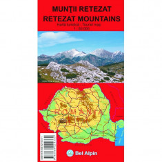 Bel Alpin Harta Muntii Retezat - Harta Turistica
