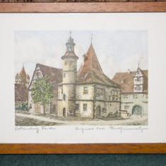 Litografie inramata 3 - imagine din Rothemburg