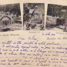 SALUTARI DIN SLANIC MOLDOVA, EXPLOATAREA APELOR MINERALE, CLASICA CIRC. 1904 - Carte Postala Moldova pana la 1904, Circulata, Printata