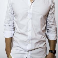 Camasa tip Zara Men - camasa lunga camasa slim camasa alba camasa barbat cod 51 - Camasa barbati, Marime: S, M, L, XL, Culoare: Negru, Maneca lunga