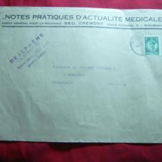 Plic Antet- Agentul roman al Revistei Note practice - Actualitati Medicale 1923 - Hartie cu Antet