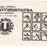 Calendar de buzunar 1989 Universitatea Cluj-Napoca U CLUJ - Calendar colectie