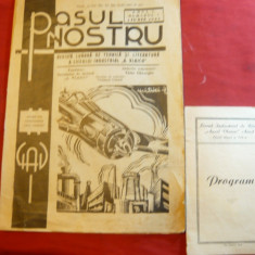 Revista Pasul Nostru -a Liceului A.Vlaicu Arad 1945 + Program teatru Liceu - Revista scolara