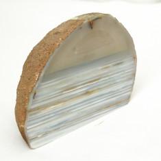 Agat slefuit partial - Fosila roca