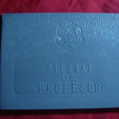 Atestat de Profesor- Diploma 1956 - tip carnet - Diploma/Certificat