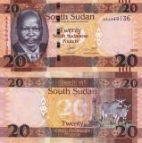 SUDANUL DE SUD 20 pounds 2015 UNC!!!