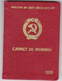 Carnet de Membru ,PCR (Partidul Comunist Roman) ,  1980