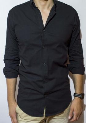 Camasa camasa lunga camasa slim camasa neagra camasa barbat cod 52 foto