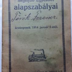 CFR - PRIMA ASOCIATIE A MECANICILOR DE LOCOMOTIVA - CARNET DE MEMBRU -ANUL 1914 - Pasaport/Document