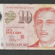 SINGAPORE  10  DOLARI  DOLLARS   2013  [2]  P-48g  ,   Polymer