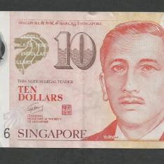 SINGAPORE 10 DOLARI DOLLARS 2013 [2] P-48g, Polymer - bancnota asia