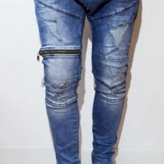 Blugi tip Zara Man - blugi barbati blugi slim fit blugi conici - cod 49, Marime: 31, 33, Culoare: Din imagine