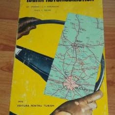 Harta automobilista Romania ACR 1974 - Harta Romaniei