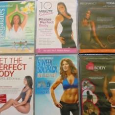 10 DVD -uri originale despre aerobic, Yoga, cure slabire, fitness etc. - Program Exercitii fizice, Altele