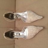 Pantofi dama Solo Donna albi - Pantof dama, Marime: 38, Cu toc
