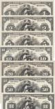 1,  2,  5,  10 ,20 ,50, 100 Lei 1912 Emisiuni Tip Dollar Reproduceri