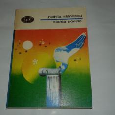 NICHITA STANESCU - STAREA POEZIEI - Carte poezie