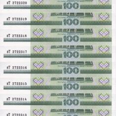BELARUS lot 10 buc. X 100 ruble 2000 UNC!!! - bancnota africa
