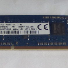 Memorie RAM DDR3 laptop KINGSTON 4GB 1Rx8 PC3L 12800 la 1600 Mhz - Memorie RAM laptop