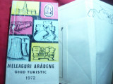 Ghid Turistic - Meleaguri Aradene 1972 -Arad si imprejurimi 221 pag.si 2 harti