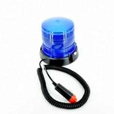 Girofar flash cu led ALBASTRU 12V si magnet - Girofar Auto