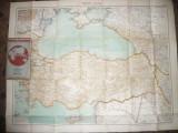 Harta Turciei ,partial Romania -Flemming Generalkarten ,cca.1920 ,1:2000 000