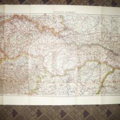 Harta Cehoslovaciei -Flemming Generalkarten, cca.1920, 1:1000 000