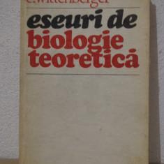 ESEURI DE BIOLOGIE TEORETICA -C.WITTENBERGER - Carte Biologie