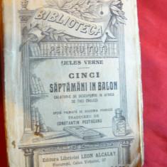 Jules Verne - Cinci Saptamani in Balon -inc.sec.XX BPT 494-498 ,trad.CtinPestrea