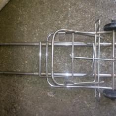 Carucior-troler, pliant, metalic, cu doua roti