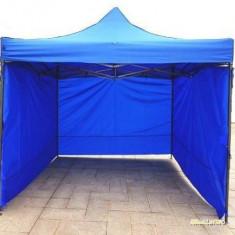 Pavilion cort 3x3 cu pereti 9m metalic pliabil complet, impermeabil NOU - Pavilion gradina