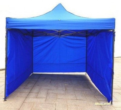 Pavilion cort  3x3 cu pereti 9m metalic pliabil  complet , impermeabil NOU foto