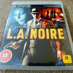 Joc LA Noire, PS3, original, alte sute de jocuri! - Jocuri PS3 Rockstar Games, Shooting, 18+, Single player