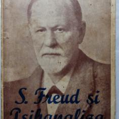 "S. FREUD SI PSIHANALIZA - DR. TH. LOEWENSTEIN - EDITURA ""ALCALAY"" - BUC. 1942 - Carte veche"