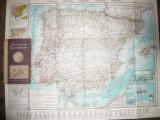 Harta Spaniei si Portugaliei - Flemming Generalkarten ,interbelica ,1:1750000
