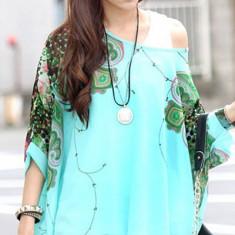 BL732-411 Bluza vaporoasa de vara cu model - Bluza dama, Marime: S/M