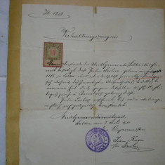 Act eliberat in orasul Solca 1911*timbrat