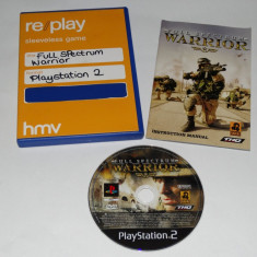 Joc Playstation 2 - PS2 - Full Spectrum Warrior - Jocuri PS2 Sony, Actiune, Toate varstele, Single player