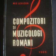 MICLEXICON - COMPOZITORI SI MUZICOLOGI ROMANI 1965