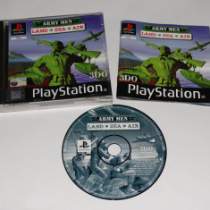 Joc Playstation 1 PS1 - Army Men Land Sea Air Altele, Actiune, Toate varstele, Single player