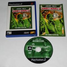 Joc Playstation 2 - PS2 - Army Men Sarge's Heroes 2 - Jocuri PS2 Sony, Actiune, Toate varstele, Single player