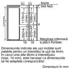 Combina frigorifica incorporabila Bosch KIV38X20, 277 L, Clasa A+, H 177 cm, Alb