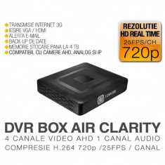 DVR AHD, ICS-BLACK BOX AIR CLARITY, 4 Canale Video, 1 Canal Audio, Rezolutie HD 720p, Vizualizare pe Internet ICANSEE