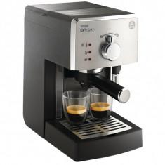 Espressor manual Philips Saeco Poemia HD8425/19, 1050W, 15 bar, 1.25l, Negru/Argintiu - Espressor automat