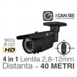 ICSMV-U1300, UHD, HIBRID 4 in 1, Rezolutie 960p HD, IR CUT, 42 IR, Lentila Varifocala, Night Vision 40M, ICANSEE